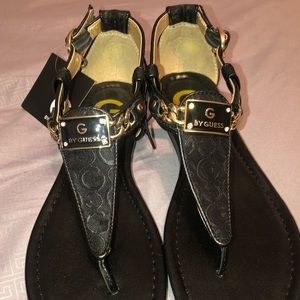 Guess, Black Sandals - New With Tags